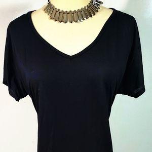 Black Maxi Dress with V neck NWT size XL